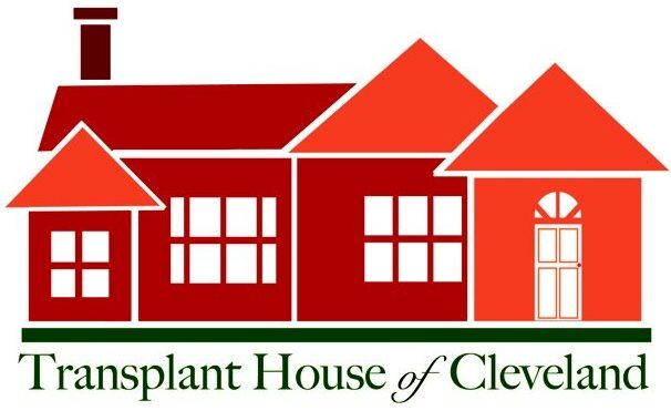 Transplant House of Cleveland with orange and red houses in logo