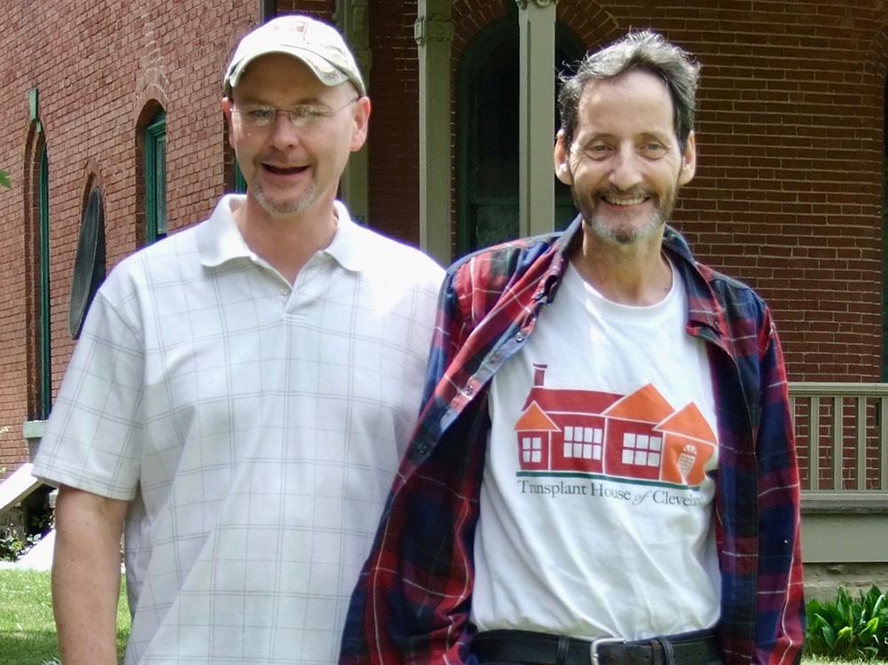 Doug and Mark outside Transplant House of Cleveland.